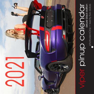 2021 Viper Pinup Calendar Deluxe Black Edition