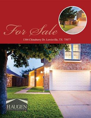 Haugen Properties -  1384 Chinaberry Dr. Lewisville, TX