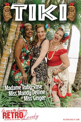 TIKI Volume 9 - Miss Ginger, Madame Ruby-Rose & Miss Mandy DeVine Cover Poster