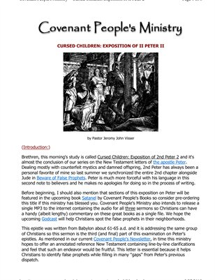 Cursed Children: Exposition of 2nd Peter II