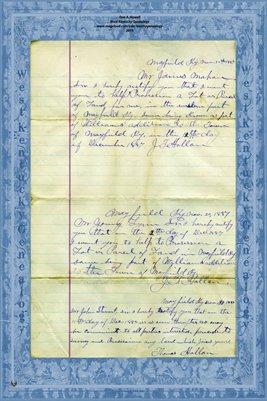 1887 Prosessioners to Notice Copy, Mayfield, Graves County, Kentucky