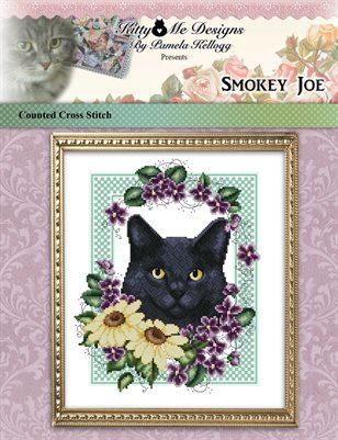 Smokey Joe Cat Cross Stitch Pattern by Pamela Kellogg