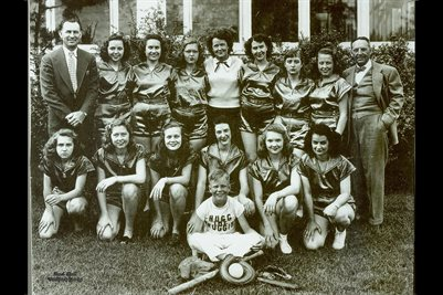 Hugg the Druggist girls Softball team 1950s.