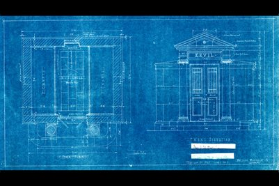 J.U. KEVIL MONUMENT BLUE PRINT