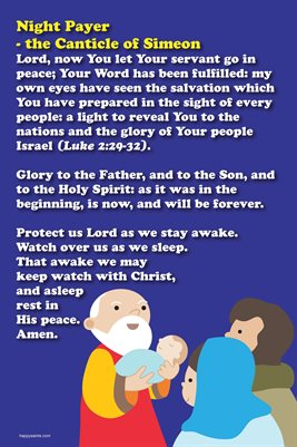 Happy Saints Night Prayer Canticle of Simeon