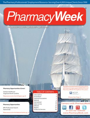 Pharmacy Week, Volume XXVI - Issue 15 - April 9, 2017 - April 22, 2017