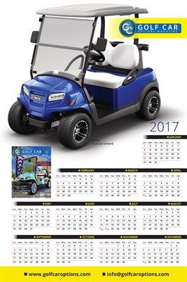 2017 Golf Car Poster/Calendar