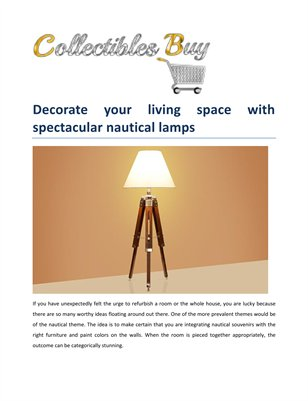 Collectibles Buy - Decorate Your Living Space with Spectacular Nautical Lamps
