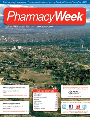 Pharmacy Week, Volume XXVI - Issue 22 & 23 - June 11, 2017 - June 24, 2017