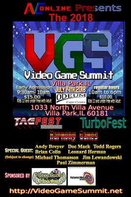 2018 Video Game Summit Poster