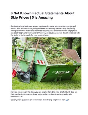 6 Facts about Skip Hire Sheffield