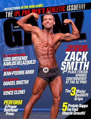 Natural Gainz Magazine Issue #33 - Fall 2018 - Cover: Zack Smith