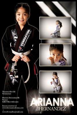 Arianna Hernandez White Stripe - Poster