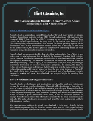 Elliott Associates Inc Quality Therapy Center About Biofeedback and Neurotherapy