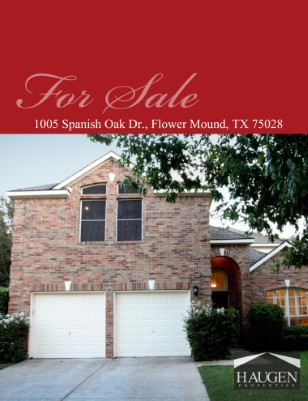 Haugen Properties - 1005 Spanish Oak Drive, Flower Mound, Texas 75028
