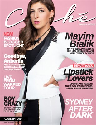 Cliché Magazine - Aug/Sept 2014 (Mayim Bialik Cover)