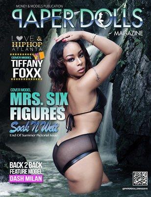 "PaperDolls Magazine (2015 Soak N Wett) Featuring Cover Model ""Mrs Six Figures"""
