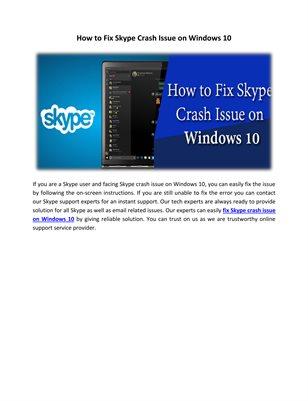 Skype Customer Support Service