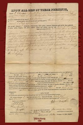 JAN., 21, 1834 DEED EBENEEZER BARTLETT TO TOWN OF RUMNEY, GRAFTON COUNTY, NEW HAMPSHIRE