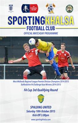 Sporting Khalsa v Spalding United FA Cup 10/10/15