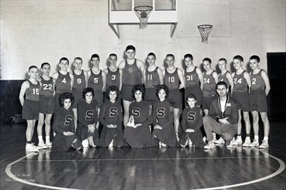 March 1, 1962 Sedalia High School Freshman Basketball Team & Cheerleaders