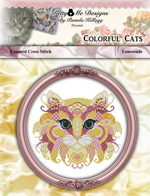 Colorful Cats Lemonade Counted Cross Stitch Pattern