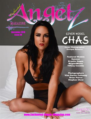 ENCHANTED ANGELZ MAGAZINE - Cover Model Chas - December 2018
