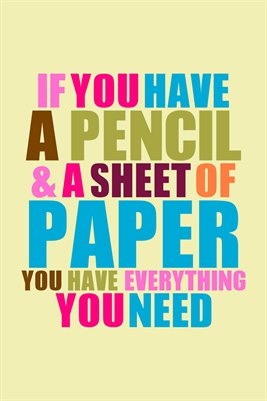 """If you have a pencil..."" HWP Poster Collection"