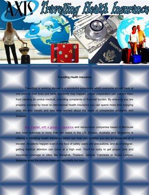 Travelling Health Insurance