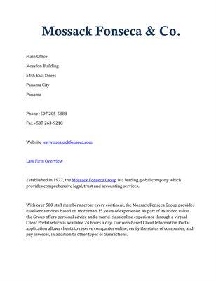 Mossack Fonseca & Co.