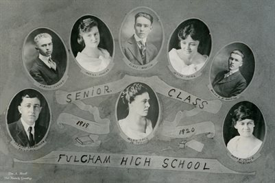 1919-1920 SENIOR CLASS IN FULGHAM, HICKMAN COUNTY, KENTUCKY