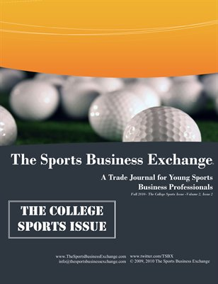 Fall 2010 Issue: The College Sports Issue