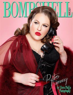 BOMBSHELL Magazine March 2021 - Retro Kimmy Cover
