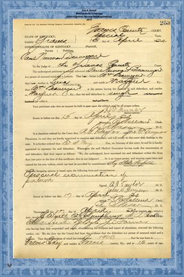 1924 State of Kentucky vs. Paul Newman Beauregard, Graves County, Kentucky