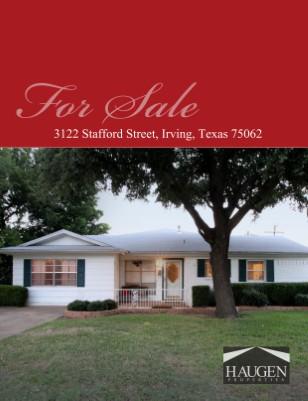 Haugen Properties -  3122 Stafford Street, Irving, Texas 75062