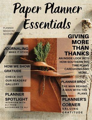 Paper Planner Essentials Magazine November 2020