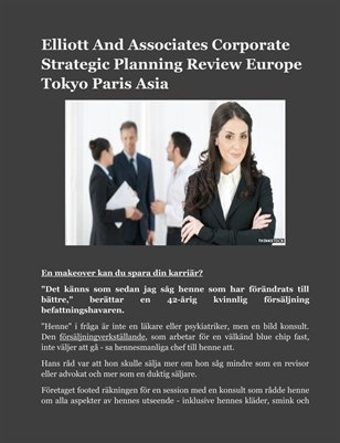 Elliott And Associates Corporate Strategic Planning Review Europe Tokyo Paris Asia