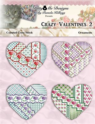 Crazy Valentine Ornaments 2 Cross Stitch