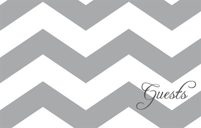 Gray Chevron Guestbook with Gray Accents