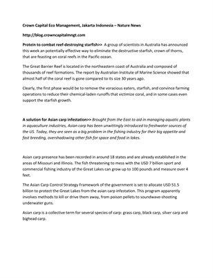 Crown Capital Eco Management, Jakarta Indonesia – Nature News