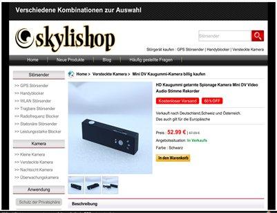 Mini DV Kaugummi-Kamera billig kaufen