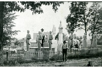 The Wooldridge Monuments about 1900