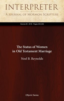 The Status of Women in Old Testament Marriage