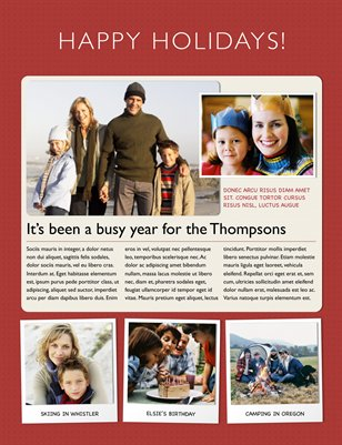 Templates - Holiday   | Newsletter Template For Iwork Pages