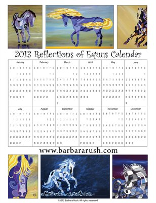 2013 Reflections of Equus Yearly Single Page Calendar
