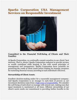Sparks Corporation USA Management Services on Responsible Investment