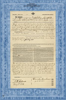 1909, Farm Lease, Clarinda Dunham & James M. Wills, Tazewell County, Illinois