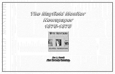 The Mayfield Monitor 1876-1878