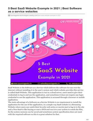 5 Best SaaS Website Example in 2021   Best Software as a service websites