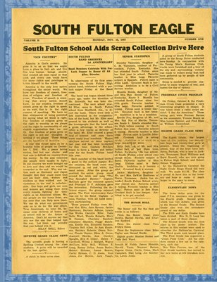 Nov. 16, 1943 South Fulton Eagle, South Fulton, Tennessee School Newspaper